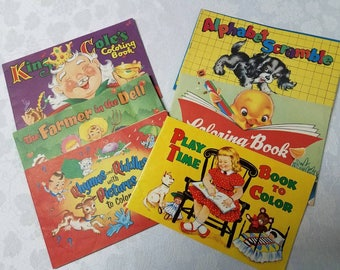 Vintage Collection of Coloring Books