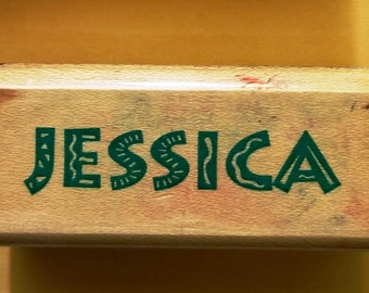 Jessica Named Rubber Stamp