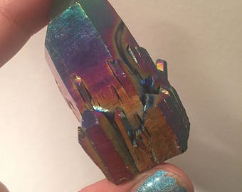 On Sale - Titanium Aura Quartz Crystal