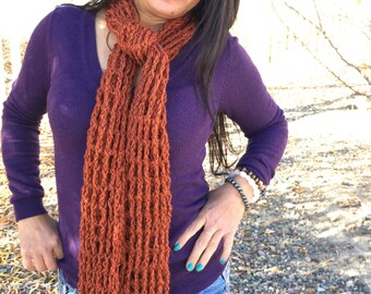 Harvest Orange Slim Scarf