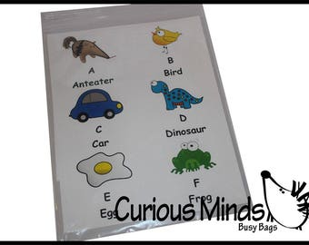 SALE - Alphabet Flash Cards -  Busy bag - Montessori - Learning the Alphabet Sounds