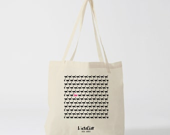 X19Y Tote bag cat against current, bag canvas, cotton bag, diaper bag, purse, tote bag, shopping bag, bag of course, shoppin
