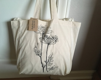 Market Tote Bag - Dill Weed - Cotton Tote - Reusable Grocery Bag - Book Bag - Beach Bag