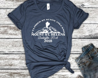 I Climbed An Active Volcano Mount St. Helens Shirt, Mount St. Helens Shirt, Mountaineering Shirt, Hiking Shirt