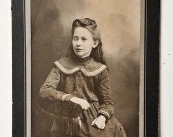 Original Antique Cabinet Card Photograph   Angelina