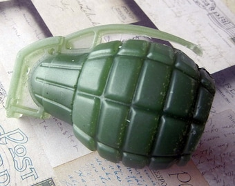 Army Green Grenade Soap
