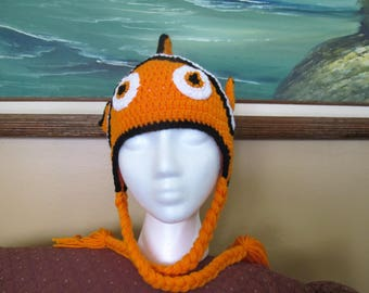 Crochet Clownfish Baby Hat (Size 6/12 Months)