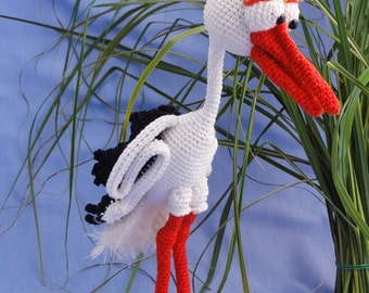 Amigurumi Crochet Pattern - Stuart the Stork - English Version