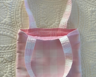 Sale! Reversible Pink and White Tote Bag