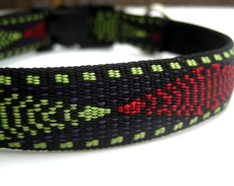 "Navajo Dog Collar. 3/4"" wide, available in S, M, L"
