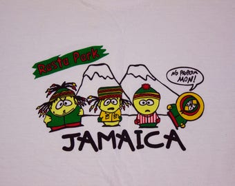 90s Comedy Central South Park Bootleg Rasta Park Stoner Funny Graphic Shirt Size Large