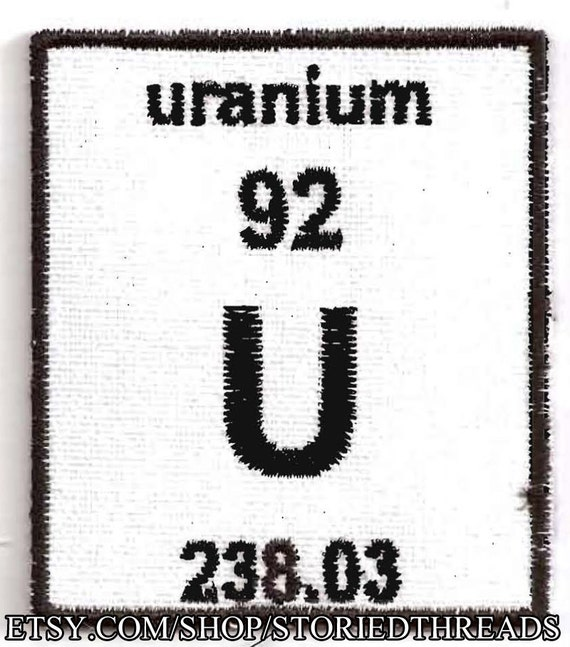 periodic table of elements patch choose your element - Periodic Table Of Elements Uranium