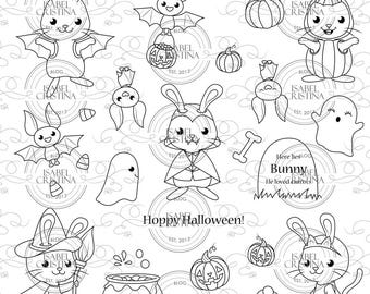 Hoppy Halloween - IsabelCristinaStamps