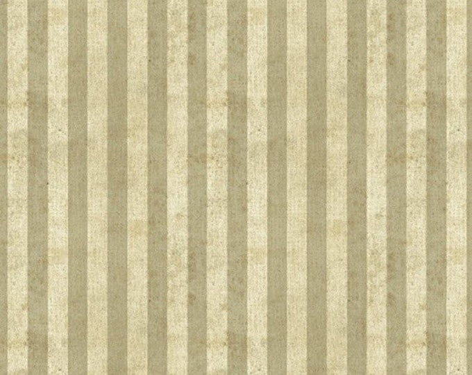 Half Yard World Maps - Stripe in Parchment - Cotton Quilt Fabric - by Sue Schlabach for Windham Fabrics - 40029-2 (W3564)