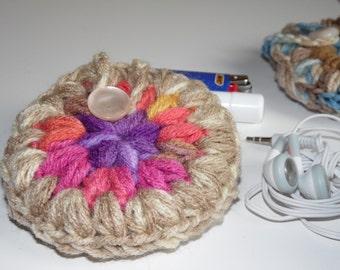 Sandy & Pink, Headphones case, Puff Pocket, Purse pocket, Stash bag