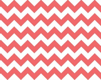 Rouge Small Chevron Fabric from Riley Blake Designs - by the Yard - 1 Yard