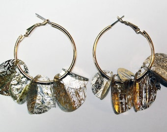 Folded Sequin Earrings