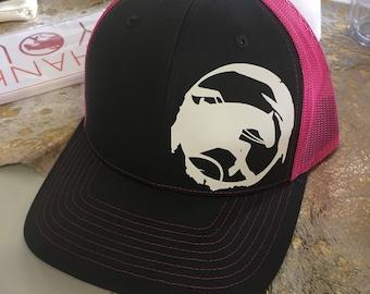 Reining Horse Neon Mesh Snapback Hat