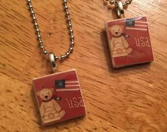 Scrabble Tile Necklace: American Girl