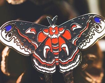 Cecropia Moth Enamel Pin