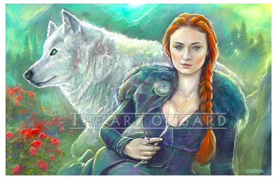 Sansa Stark from Game of Thrones (11X17 high quality art print)