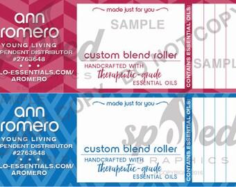 Blank Write-in (5ml) Essential Oil Geo Roller Labels DIGITAL