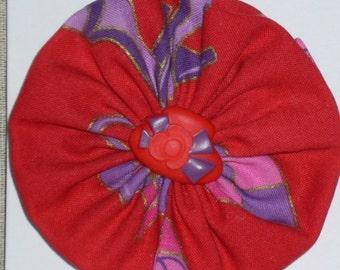 Red Hat Ladies Flower Lapel Pin