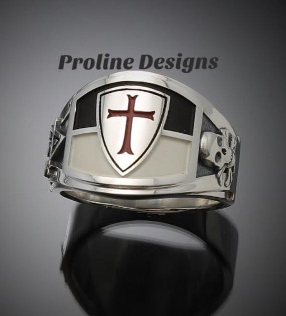 Titanium Knights Templar Ring
