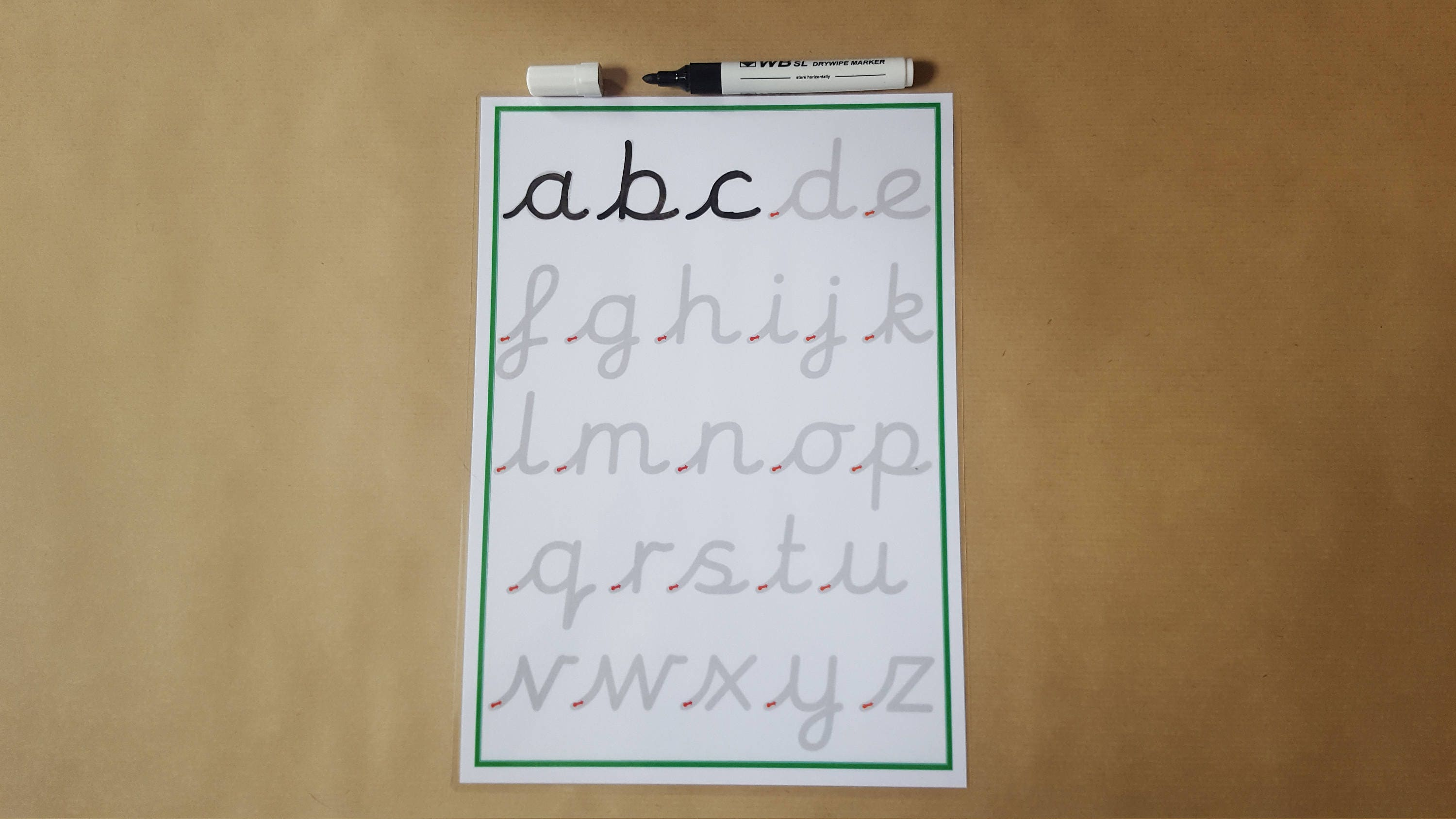 tracing letters pre cursive handwriting practice mat lower. Black Bedroom Furniture Sets. Home Design Ideas