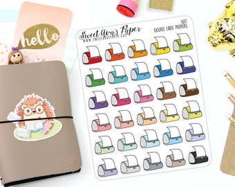 Label Printer Planner Stickers - Shop Owner Planner Stickers - Me Time Stickers - Printer Stickers - Doodle Icon Planner Stickers - 1017