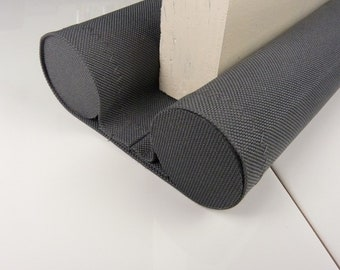 Breezeze Draft Excluder Grey Cordura The Instant Double Draft Stopper, Draft Blocker, Made to Measure, Wide Range of Wipe Clean Colours,