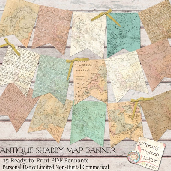 Old world map banner antique map garland shabby world map gumiabroncs Images