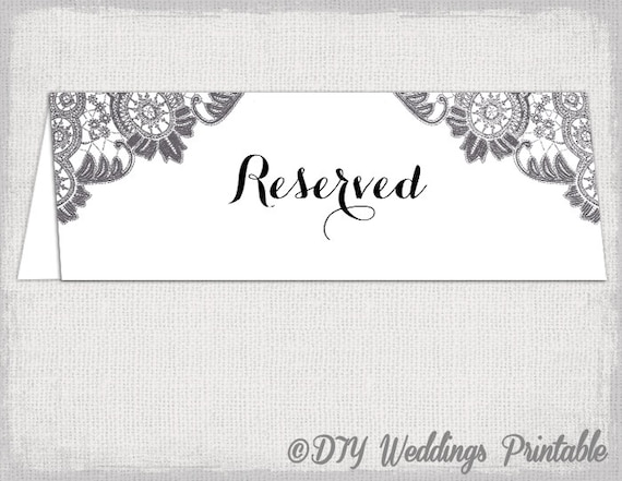 reserved table sign template word. Black Bedroom Furniture Sets. Home Design Ideas