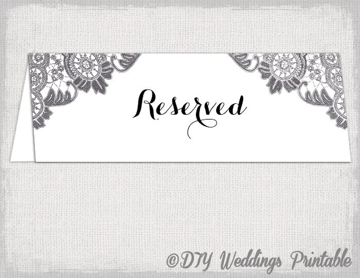?zoom  sc 1 st  Etsy & Reserved card template Antique Lace printable