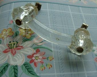Rare Antique Gorgeous Cut Glass Handle