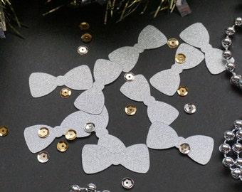 Silver Bow Tie Glitter Confetti, Gold Glitter Bow Tie Confetti, Party Decorations, Party Decor, Wedding Decor, Birthday Party