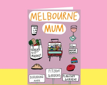 Mother's Day Card  - Melbourne Mum