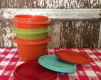 Whimsical Set of Vintage Tupperware Bowls