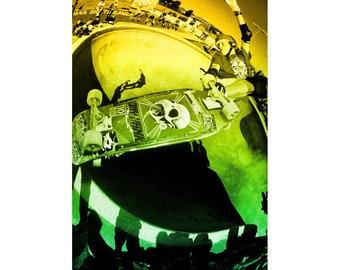 "J Grant Brittain 16X20"" Tony Hawk Del Mar Skate Ranch Limited Edition Skateboarding Poster"