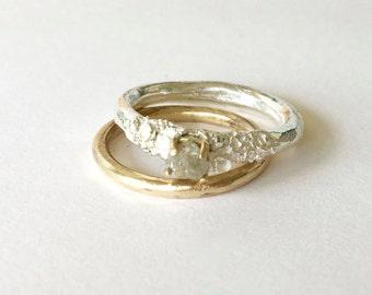 Rough Diamond Forrester Engagement Ring