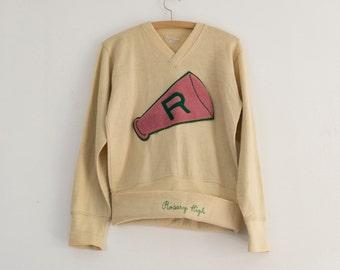1950s varsity sweater | 1950s cheerleader | medium