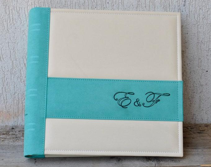 Personalized Engagement Scrapbook Album, Custom Engagement Party Gift