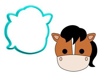Horse Face #2 Cookie Cutter