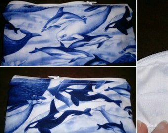 Dolphin and Whale Pencil Pouch