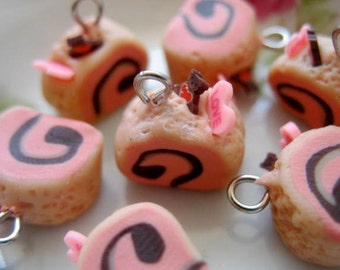 6pcs Rolled Cake - Mocha Chiffon Strawberry