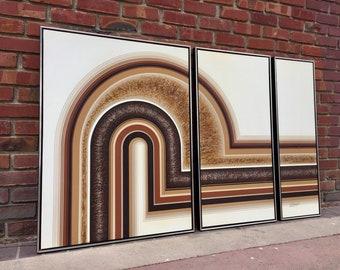 RETRO Letterman Triptych 3 Panel Art