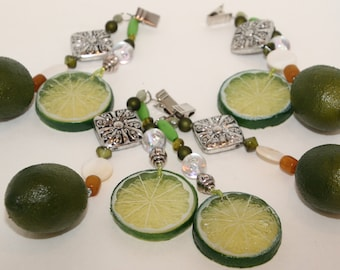 Citrus Lime Tablecloth Weights Set of 4