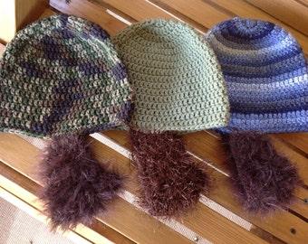 Beard Hat for boys and men- Crochet