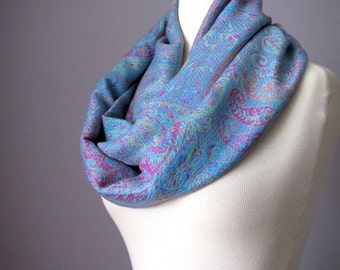 Scarf Obsession Women scarf in Blue, Chunky scarf for Fall/Winer/Spring, women clothing gift, Mothers Day Gift, Christmas present