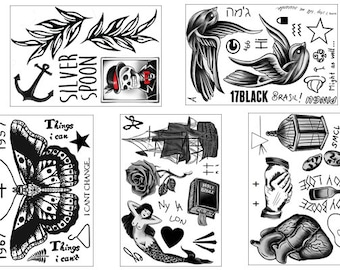 Harry Styles Inspired Temporary Tattoos - Complete Set!